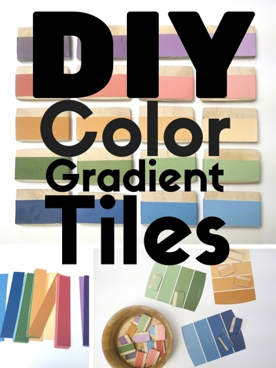 DIY Color Gradient Tiles