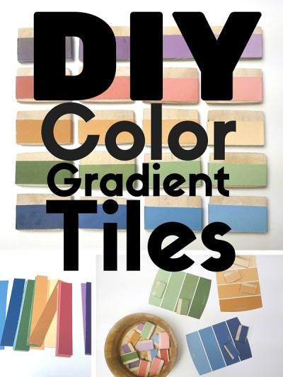 DIY Color Gradient Tiles