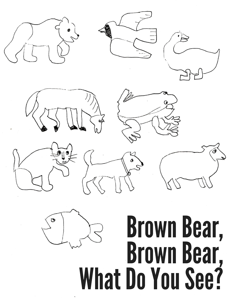 Brown Bear Brown Bear Coloring Sheet Mostly Montessori